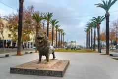 雕象狮子在Fes 摩洛哥 库存照片