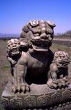 雕象的利奥 图库摄影
