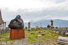 雕象的神色 免版税库存照片