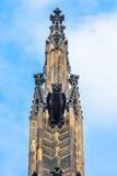 雕象的详细视图在布拉格城堡的在布拉格 库存图片