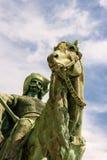 雕象英雄的正方形 免版税库存图片