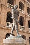 雕象西班牙斗牛士Manolo Montoliu, Plaza De Toros,巴伦西亚 免版税库存照片