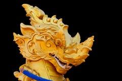 雕象顶头狮子 免版税库存照片