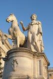 雕象马和人 免版税库存图片