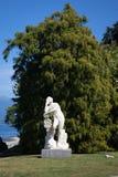 雕象,别墅Melzi,科莫湖 免版税图库摄影