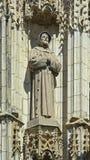 雕象,塞维利亚大教堂细节  库存图片