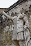 雕象,赫库兰尼姆考古学站点,褶皱藻属,意大利 免版税库存照片