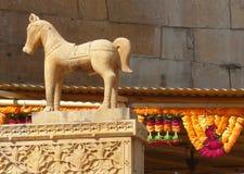 雕象, Jaisalmer堡垒 库存照片