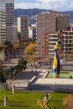 雕象`妇女和鸟`夫人我Ocell,加泰罗尼亚语的,创造由J 库存照片