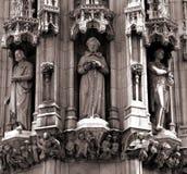雕象细节在大教堂的 免版税库存照片