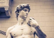 雕象细节-大卫米开朗基罗 免版税库存照片