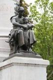 雕象-菲利普Lebon广场-里尔-法国 库存图片