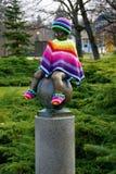雕象Frantisek -温泉镇Frantiskovy Lazne -捷克的属性 图库摄影