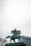 雕象Kusunoki Masashige 库存照片