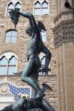 雕象Perseus在佛罗伦萨 库存照片