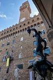 雕象Perseus本韦努托・切利尼, Palazzo Vecchio,佛罗伦萨,意大利 免版税图库摄影