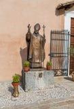 雕象Santo乔凡尼保罗II, Mentorella,拉齐奥圣所, 库存照片