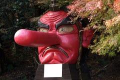 雕象tengu 免版税库存照片