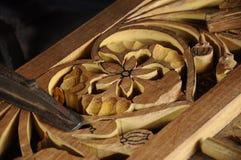 雕刻从登嘉楼的马来西亚传统木头 库存照片