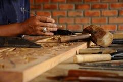 雕刻从登嘉楼的马来西亚传统木头 免版税库存照片