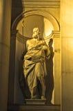 雕刻在圣乔治Maggiore教会里面在威尼斯 免版税图库摄影