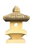 雕刻在白色背景的石头外面 免版税库存照片
