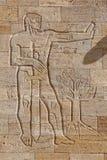 雕刻在穆斯塔法凯末尔阿塔图尔克,安卡拉Anitkabir陵墓  库存图片