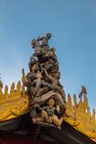 雕刻在Shwezigon塔,在缅甸(Burmar)的Bagan 免版税库存照片