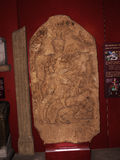 雕刻展览的罗马纪念品在城市博物馆在兰卡斯特英国在城市的中心 库存图片