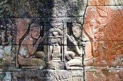 雕刻描述linga崇拜 库存照片