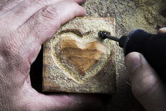 雕刻木形状 图库摄影