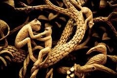 雕刻泰国木头 库存照片