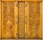 雕刻泰国的木头 免版税库存图片