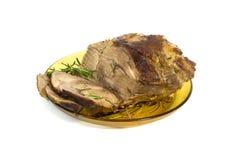 雕刻烘烤肉 免版税库存照片