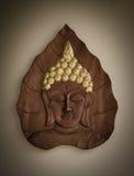雕刻现有量的菩萨做泰国木头 免版税库存图片