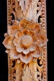 雕刻生活模式故事泰国木头 库存图片