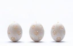 雕刻的复活节彩蛋 免版税库存图片