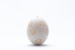 雕刻的复活节彩蛋 免版税库存照片