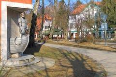 雕刻的构成渔夫Raushen 免版税库存照片