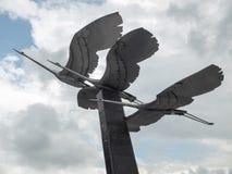雕刻的构成-起重机 库存照片