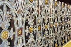 雕刻的珍珠,装饰 免版税库存照片