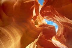 雕刻的砂岩在更低的羚羊峡谷 免版税库存照片