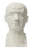 雕刻画的解剖学头 库存图片
