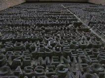 雕刻的词 免版税库存图片