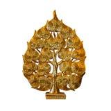 雕刻的金黄莲花形状 库存照片