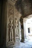 雕刻002的Apsara 图库摄影