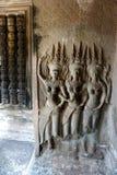 雕刻003的Apsara 免版税库存图片