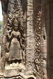 雕刻004的Apsara 免版税库存图片