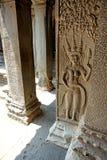 雕刻005的Apsara 免版税库存图片