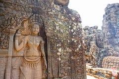 雕刻010的Apsara 图库摄影